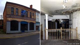 The derelict former Axiom building in Cheltenham