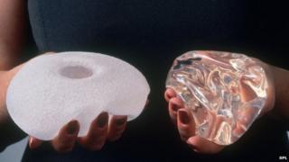 Pair of breast implants