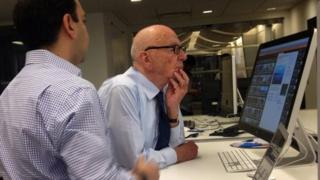 Rupert Murdoch being shown Storyful