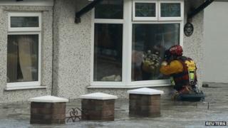Rhyl street under water in December flooding incident