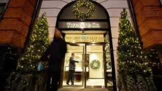 Tiffany & Co Christmas shop front in London December 2013
