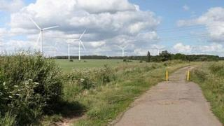 Image of wind farm might look