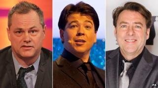 Jack Dee, Michael McIntyre and Jonathan Ross