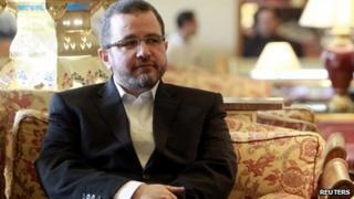 Hisham Qandil at a news conference in Cairo (29 July 2013)