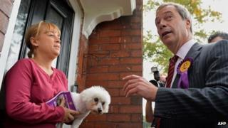 Nigel Farage meets voter