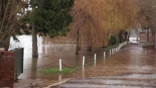 Floods in Upton-upon-Severn