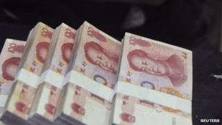 File photo: Chinese banknotes