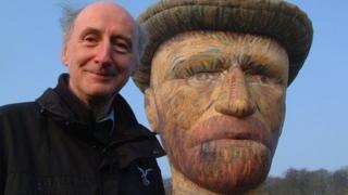 Don Cameron with van Gogh balloon