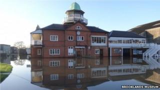Floods at Brooklands Museum