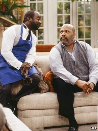 Joseph Marcell and James Avery in The Fresh Prince of Bel-Air