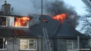 Hutchison Terrace fire