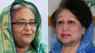 PM Sheikh Hasina (left) and opposition leader Khalida Zia are two of the most important political players in Bangladesh.