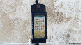 Sign on Aberystwyth seafront