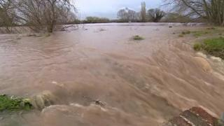 River Severn on Friday morning just after 09:45 GMT