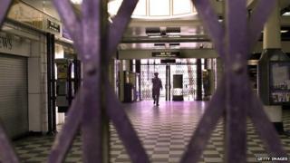 Inside Embankment Station