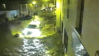 Flooding in Boston - CCTV footage from Boston Borough Council