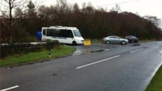 The man was hit on the Tullychurry Road in Leggs, near Belleek