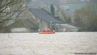 Flood rescue underway in Somerset