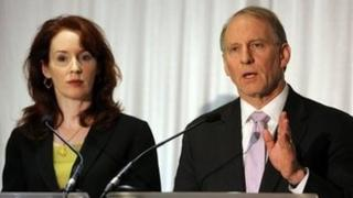 Meghan O'Sullivan and Richard Haass chaired the round-table talks