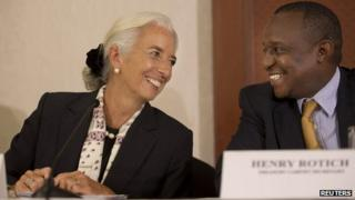 Christine Lagarde and Henry Rotich