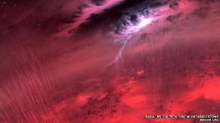 Artist's impression of brown dwarf weather