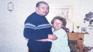 Kevin Roberts and his mother Vera