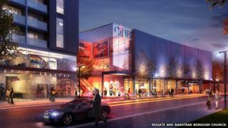 Artists impression of Redhill town centre