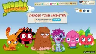 Moshi Monsters adoption page