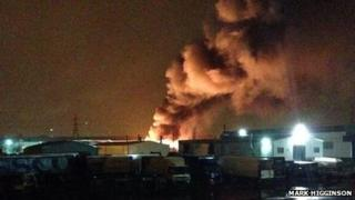 Fire in Darlaston
