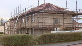 house being made more energy efficient