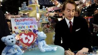 Ty Warner, creator of Beanie Babies toys, signs autographs in a rare appearance in 2003