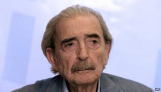 Argentine poet Juan Gelman in 2012
