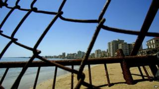 Rusty fence in Varosha