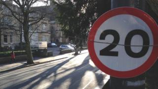 Speed limit signs in Bristol