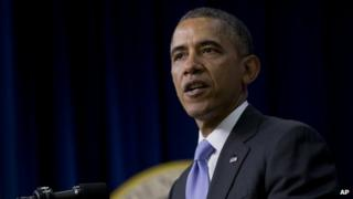 President Barack Obama spoke at the White House on 16 January 2014