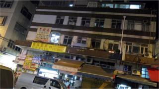 Exterior of a mostly-deserted shopping mall in Hong Kong's Yuen Long district, 17 Jan 2014, where a group of secret brothels run by a triad gang were raided by the police.