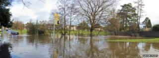 Flooding in Copthorne