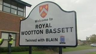 Royal Wootton Bassett sign