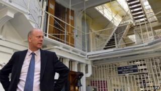 Justice Secretary Chris Grayling at Pentonville Prison