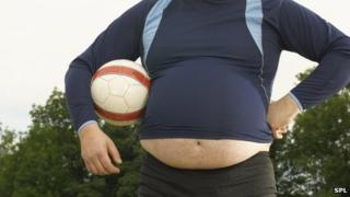 Overweight footballer