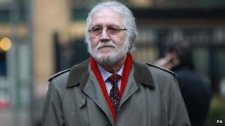 Dave Lee Travis arriving at Southwark Crown Court on 20 January 2014