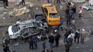 Bomb blast aftermath, southern Baghdad (20 Jan)