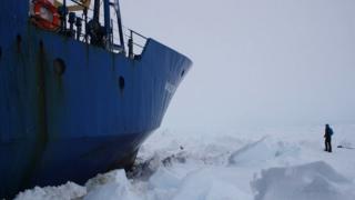 AK Shokalskiy in ice