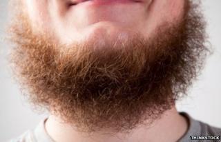 A bushy beard