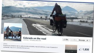 Image grab of Javier Colorado's Facebook page