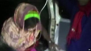 Indian girl taken to hospital