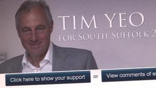 South Suffolk MP Tim Yeo