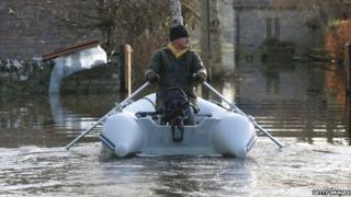 Man on boat in Somerset