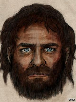 Artist impression of the male-hunter gatherer