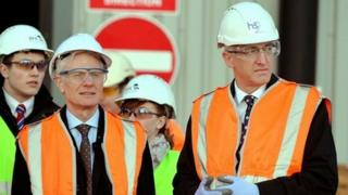 HS2 chair Sir David Higgins (right) and infrastructure minister Lord Deighton